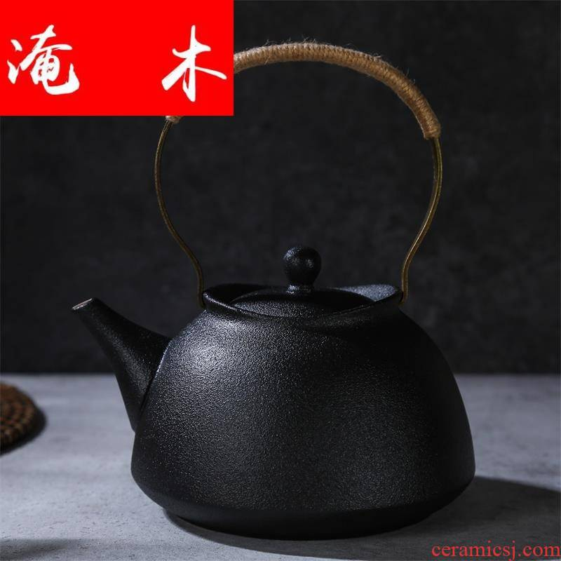 Flooded wood volcano glaze health cooked this ceramic teapot tea is tea kettle girder white clay pot kettle quality goods
