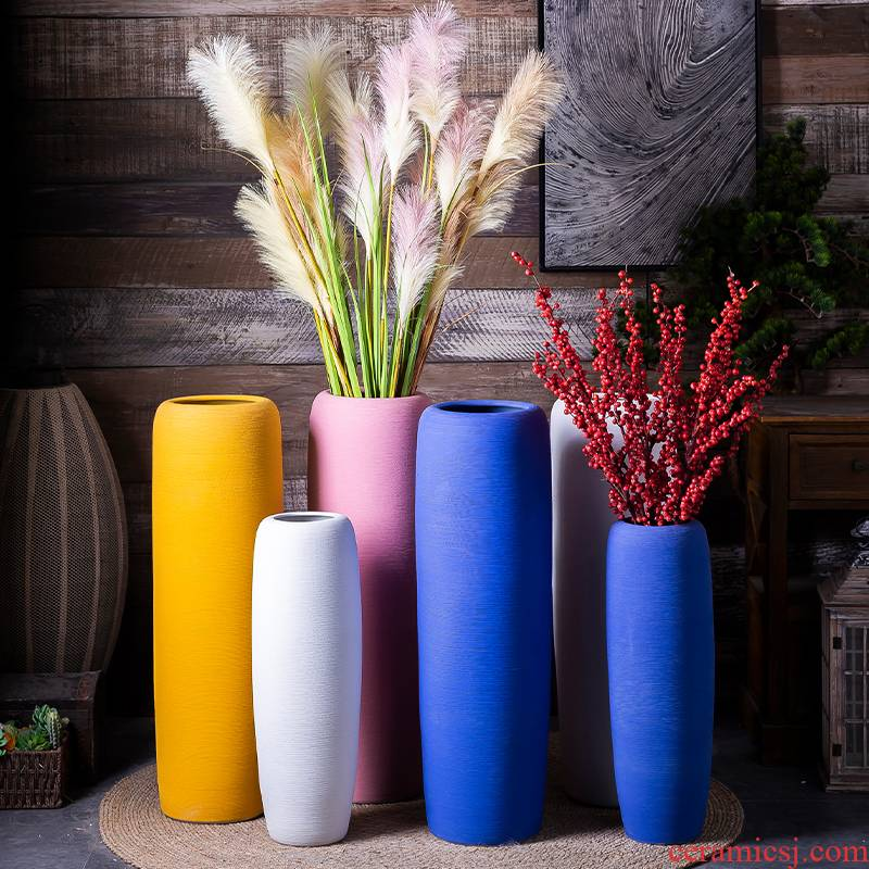 The Nordic creative manual vase modern furnishing articles sitting room adornment pure manual craft ceramic flower implement suits for