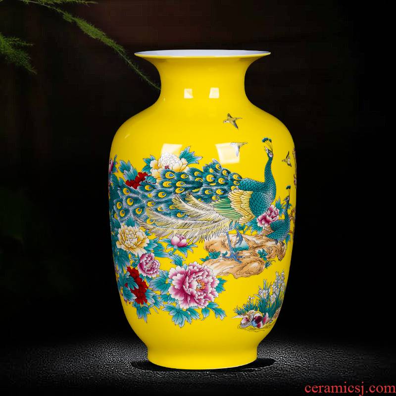Jingdezhen ceramics small vases, flower arranging decorations furnishing articles furnishing articles rich ancient frame of Chinese style household, the living room