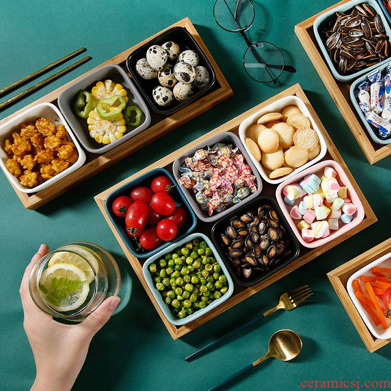 Fruit bowl boreal Europe style ceramic creative points of confectionery, snack 'lads' Mags' including nuts, dried Fruit platter tea snack plate