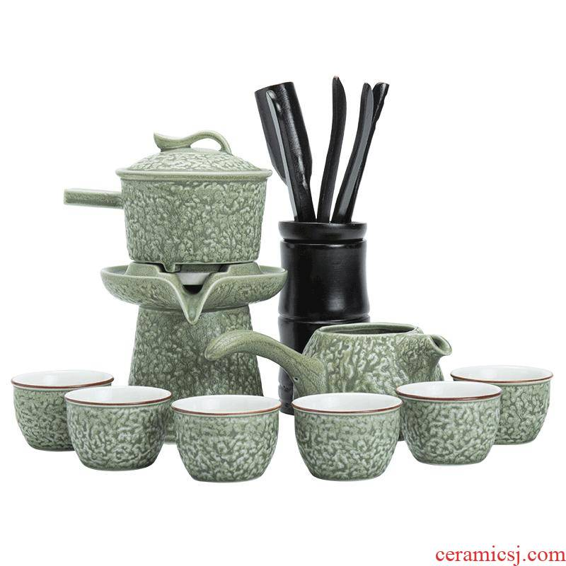 Fit the kitchen utensils suit household teapot lazy cup semi automatic ceramic teapot kung fu tea