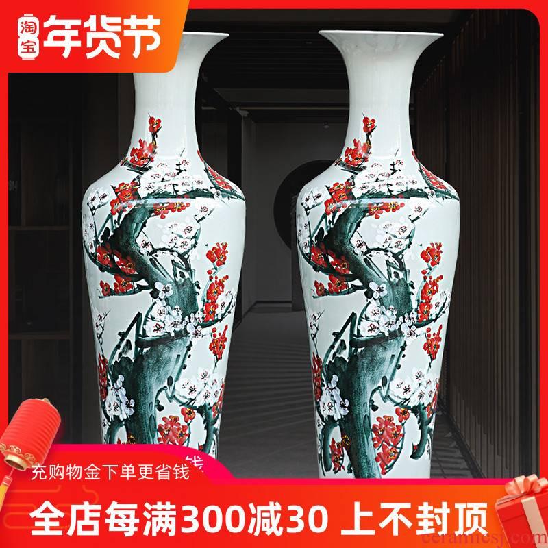 Jingdezhen ceramics hand - made harbinger figure large vase landed sitting room flower arranging modern household adornment furnishing articles