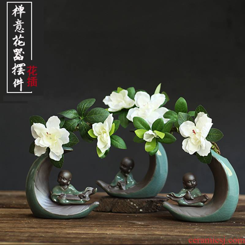 To run a hydroponic plant flower implement flowerpot zen the young monk home decoration person furnishing articles ceramic interior living room