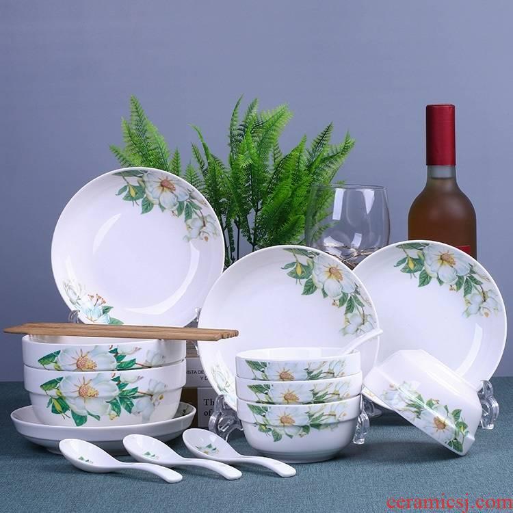 Dishes suit household bowls bowl chopsticks ipads plate cartoon Korean jingdezhen ceramic bowl plate set of express it in a bowl
