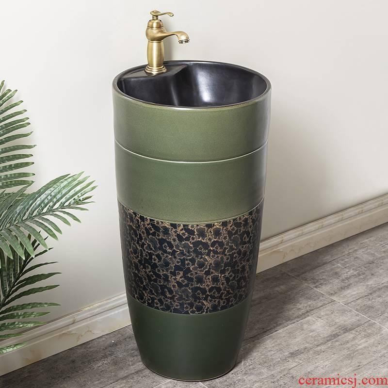 Ceramic column basin restoring ancient ways of household toilet lavatory basin sink balcony is suing floor one column 9