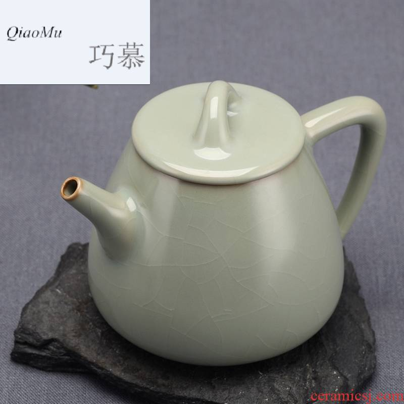 Qiao mu sense of Chinese style restoring ancient ways your up little teapot open piece of jingdezhen ceramics by hand for its ehrs household kung fu tea