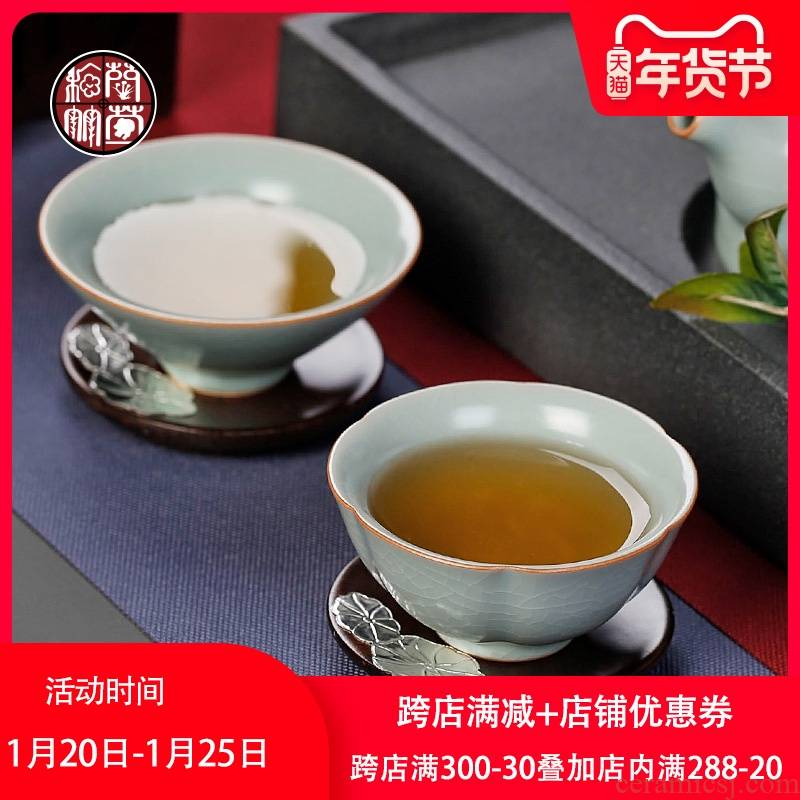 By patterns your up hat day a cup of green tea light master cup single CPU ceramic cups a single large cup of tea