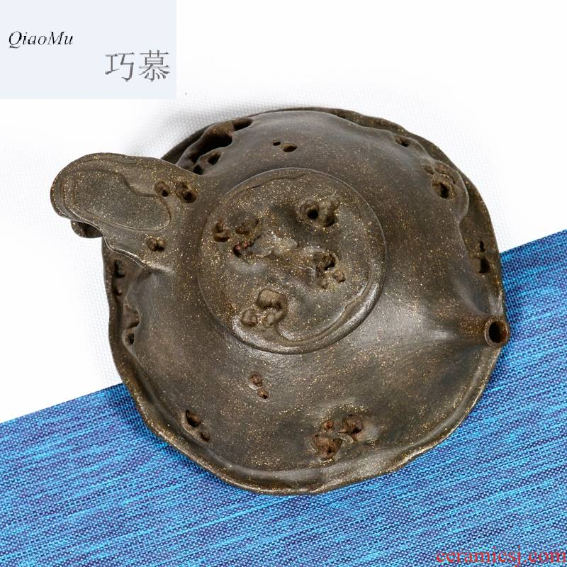 Qiao mu QD yixing are it in taihu lake azurite plaster undressed ore all checking quality high - end stone gourd ladle pot sketch the teapot