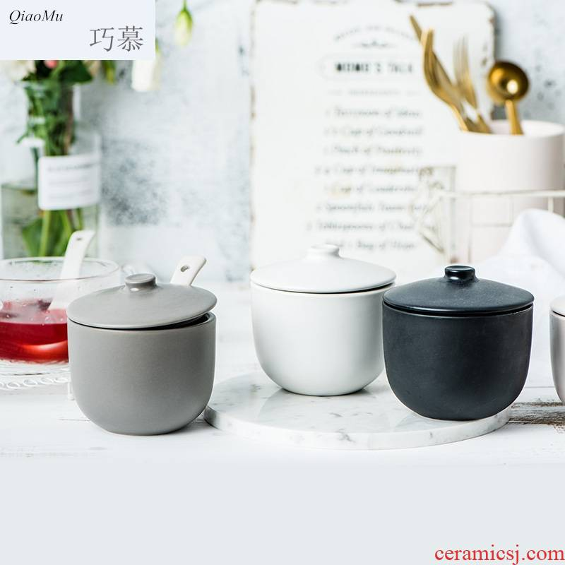 Qiam qiao mu steamed egg method of soup bowl bowl with cover household ceramics pudding bowl of sugar water bowls mini express tureen bowl of tin