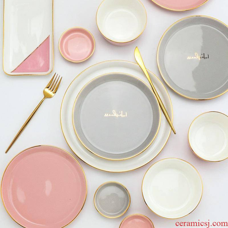 The kitchen in The Nordic up phnom penh ceramic household food dish creative web celebrity ins plate suit steak dinner plate