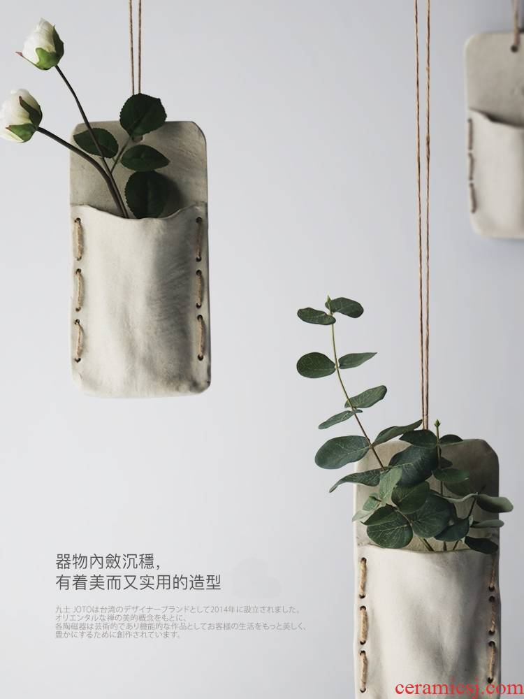 About Nine soil hanging pot creative flower arranging hang rope flower implement the wall ceramic wall act the role ofing flower implement hanging POTS hanging pot the plants