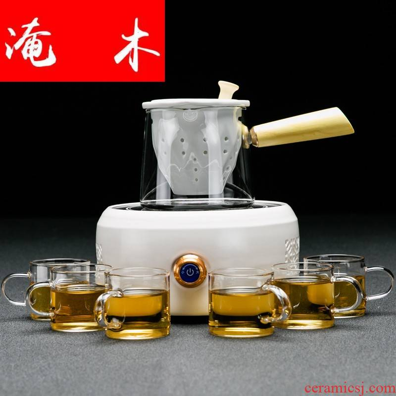 Submerged wood Pyrex cooking pot tea, black tea pu - erh tea side to cook tea, household electrical TaoLu suit