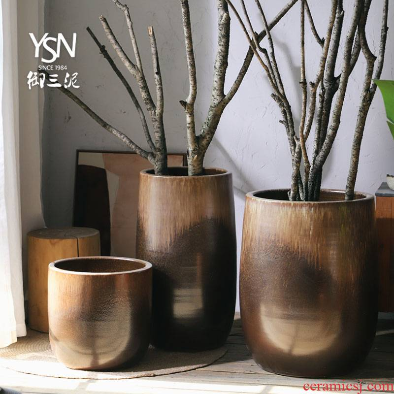 Wide expressions using Nordic vase flowerpot contracted combination packages mailed to restore ancient ways ceramic oversized home sitting room hydroponic money plant