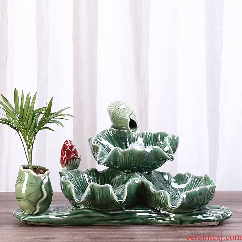 Ceramic aquarium water furnishing articles collocation of aerobic filter fish farming water falls from the loop filter gifts