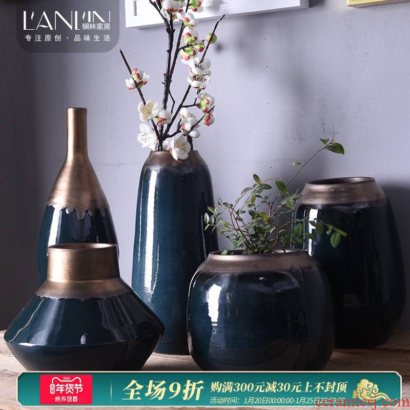 I and contracted mesa vase table table flower arranging flower implement TV ark, porch place the Nordic European ceramics
