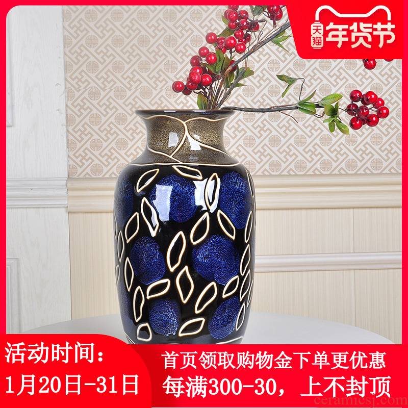 Creative Nordic jingdezhen ceramics lucky bamboo dried flowers small furnishing articles I and contracted sitting room hydroponic vase