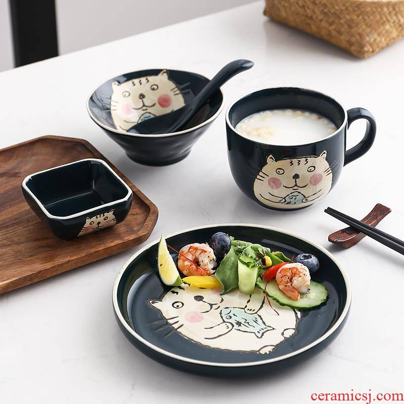 Japanese tableware one eat breakfast sets a single bowl chopsticks sets of chopsticks dishes a delicate dishes household porcelain