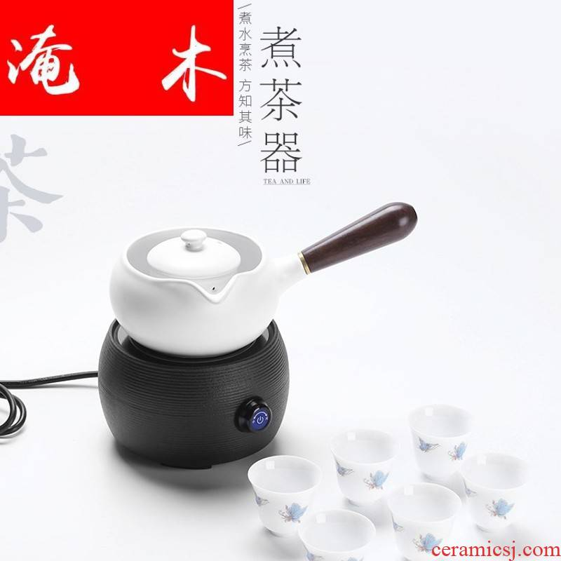 Submerged wood electric TaoLu boiling tea ware ceramic side put the teapot burn boiled bo household electric teapot tea stove'm preserve one 's health