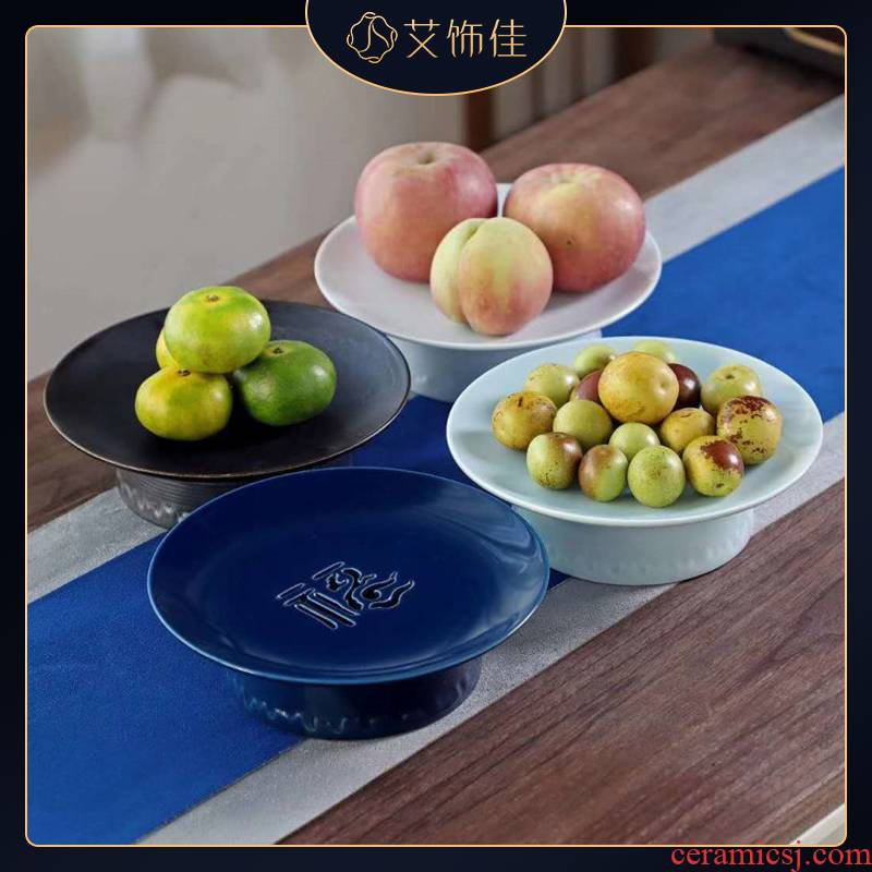 Ceramic fruit compote can drop household of Chinese style snacks sitting room dry fruit compote snack dish candy dish