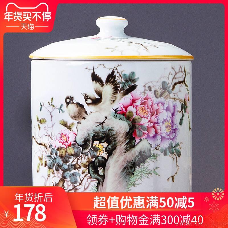 438 jingdezhen ceramic furnishing articles and storage tank candy jar creative home sitting room adornment