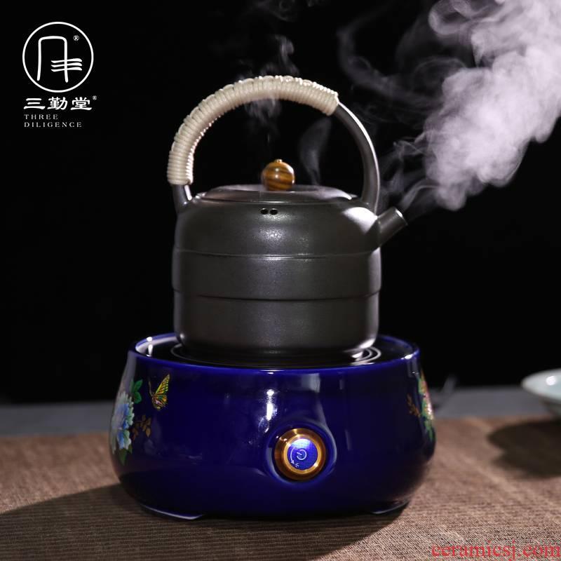 Three frequently hall electric TaoLu elegant tea stove jingdezhen ceramic tea set joker kettle boil tea stove S81019 restoring ancient ways