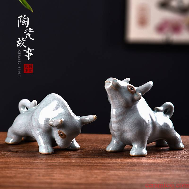 Ceramic tea pet furnishing articles zen tea interest story adorable boutique move tea can keep discoloration in plutus cattle