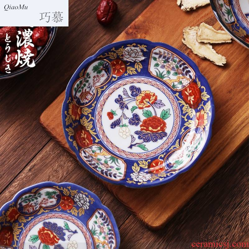 Qiao mu ancient Ivan dish dish dish in household small dishes snacks Japanese plates retro ceramic disc