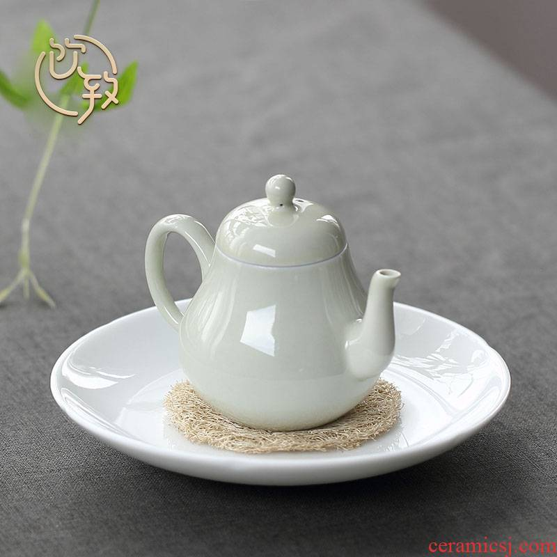 Ultimately responds to sweet white glaze Japanese it bearing bearing tea pot of ceramic tray was dry terms tray of white porcelain tea set tea accessories