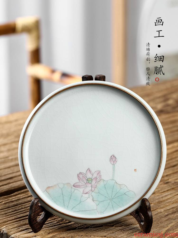 Pure manual your up pot dry socket sets jingdezhen hand - made lotus Japanese tea ceramic small tea accessories getting out
