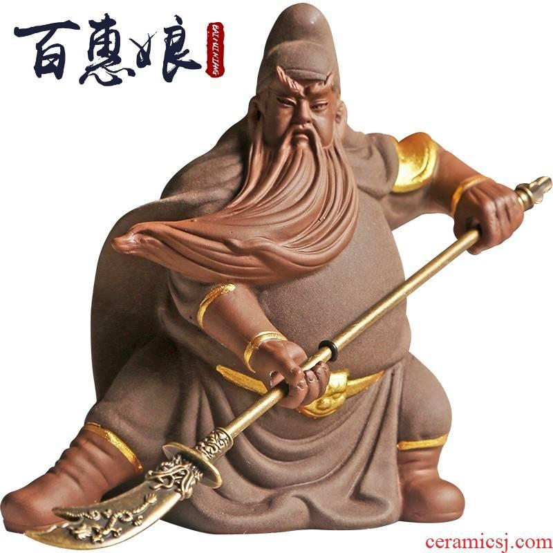 (niang violet arenaceous the duke guan spoil creative character manual young monk monk zen tea can keep zhu mud furnishing articles