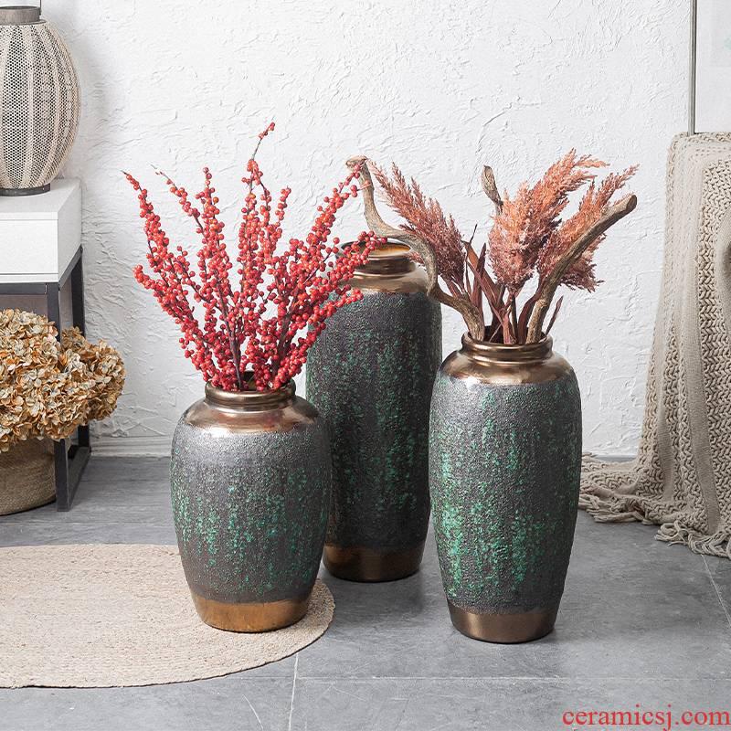 Ceramic vases, flower arrangement sitting room place I and contracted to restore ancient ways the dried ou landing big flowerpot jingdezhen porcelain