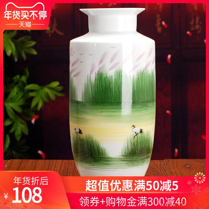 089 jingdezhen ceramic glaze vase on hand - made pastel landscape vase sitting room home furnishing articles