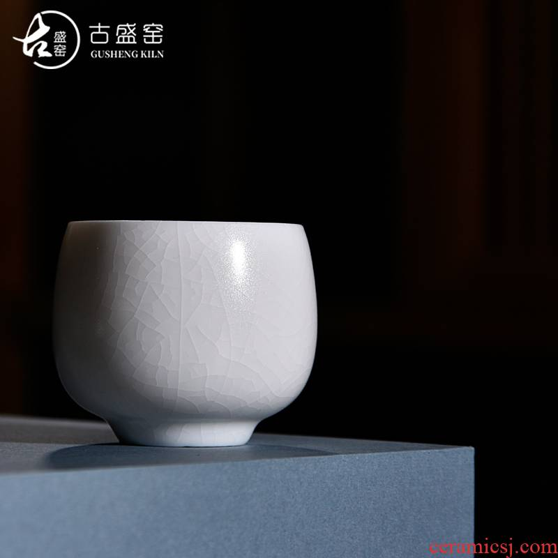 The ancient ivory white cup sample tea cup kung fu master sheng up new one thin foetus single CPU open piece of white jade porcelain cup