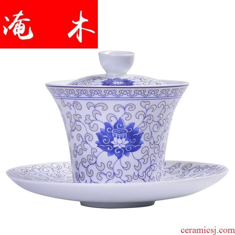 Submerged wood tureen colored enamel cups anemones kung fu tea kettle white porcelain ceramic tea bowl three tureen