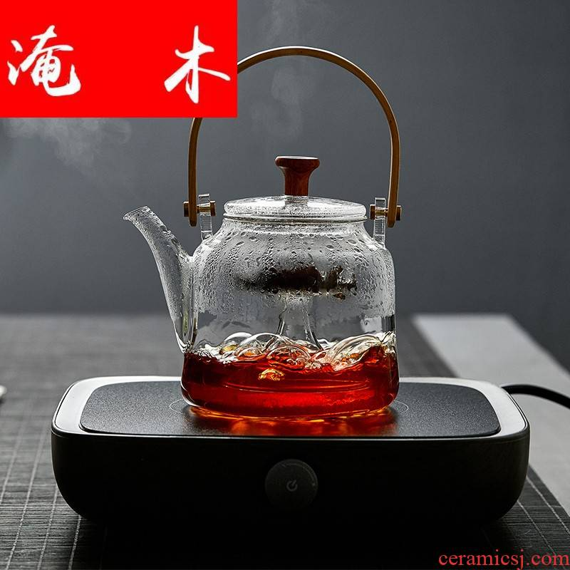 Submerged wood with thick glass boiled tea kettle teapot high - temperature heat steam steaming tea TaoLu household electricity