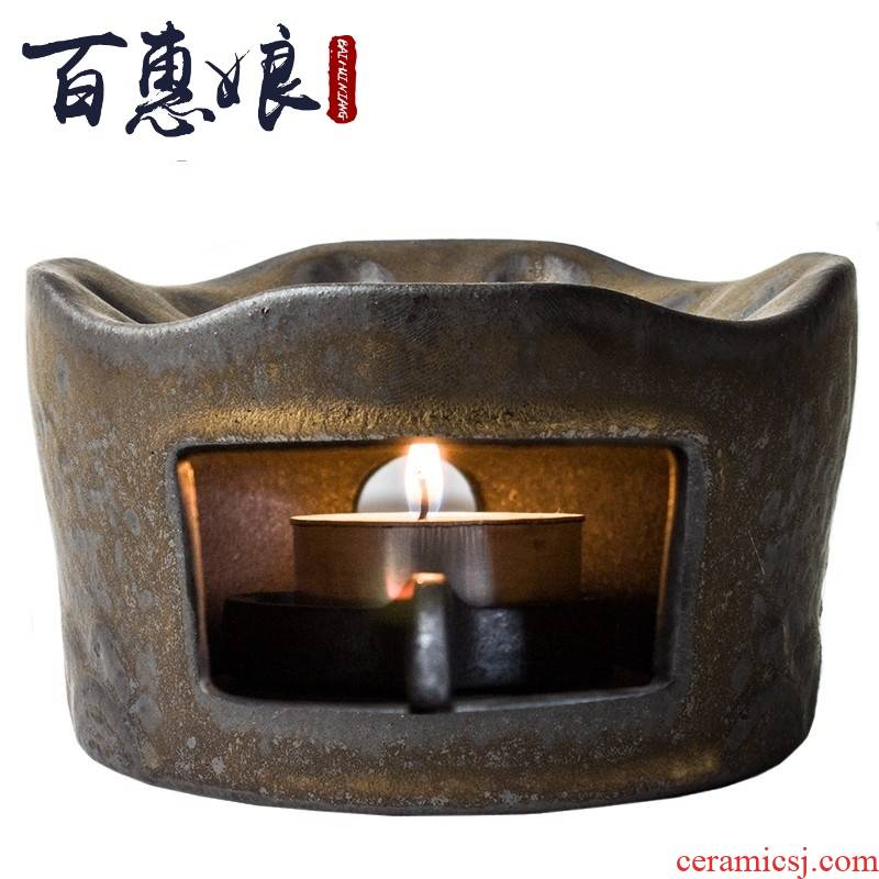 (niang Japanese coarse pottery boiled tea stove based warm tea tea set temperature warm winter kung fu tea tea kettle insulation base