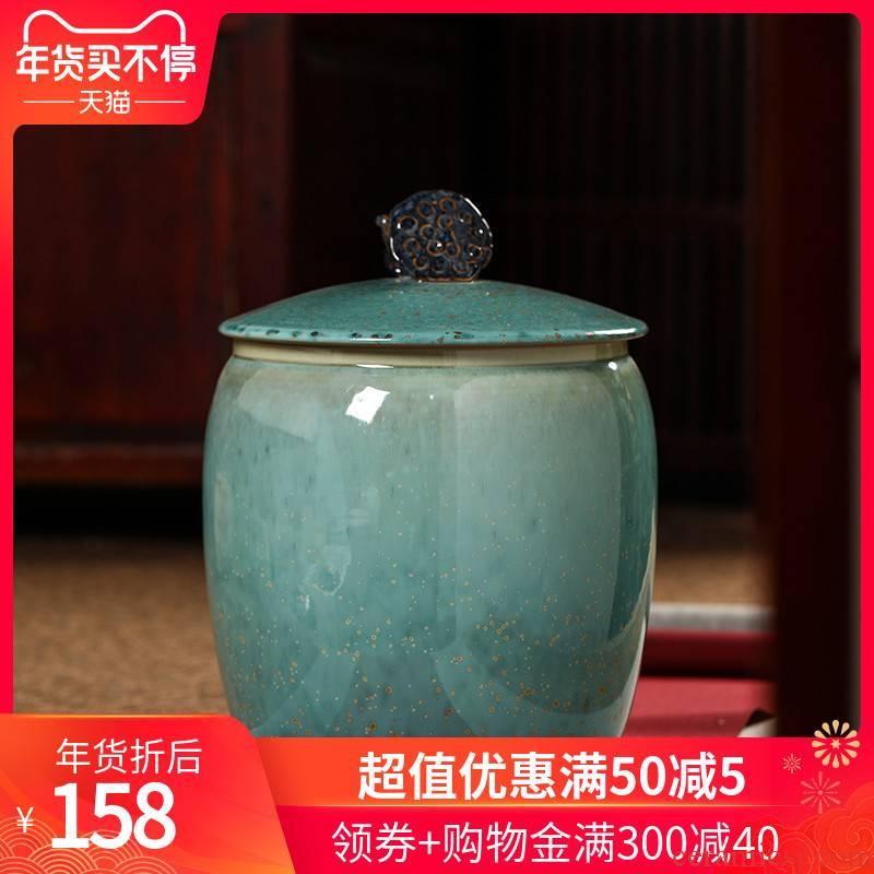 489 jingdezhen ceramic tea cake caddy fixings storage tanks to wake receives household seal pot porcelain POTS