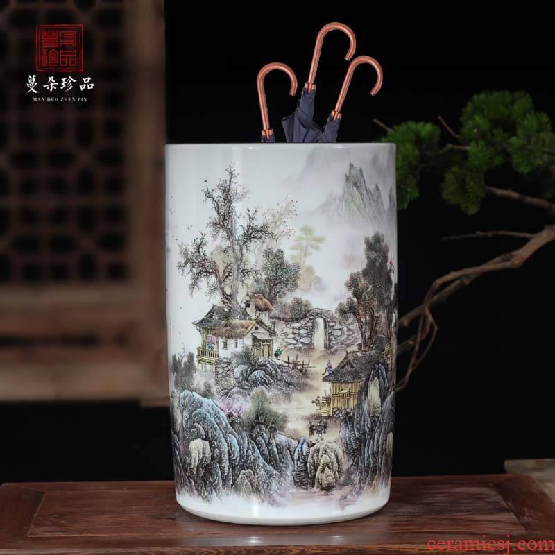 Jingdezhen porcelain vase quiver mesa floor idea gourd bottle painting ceramic coarse quiver umbrella quiver