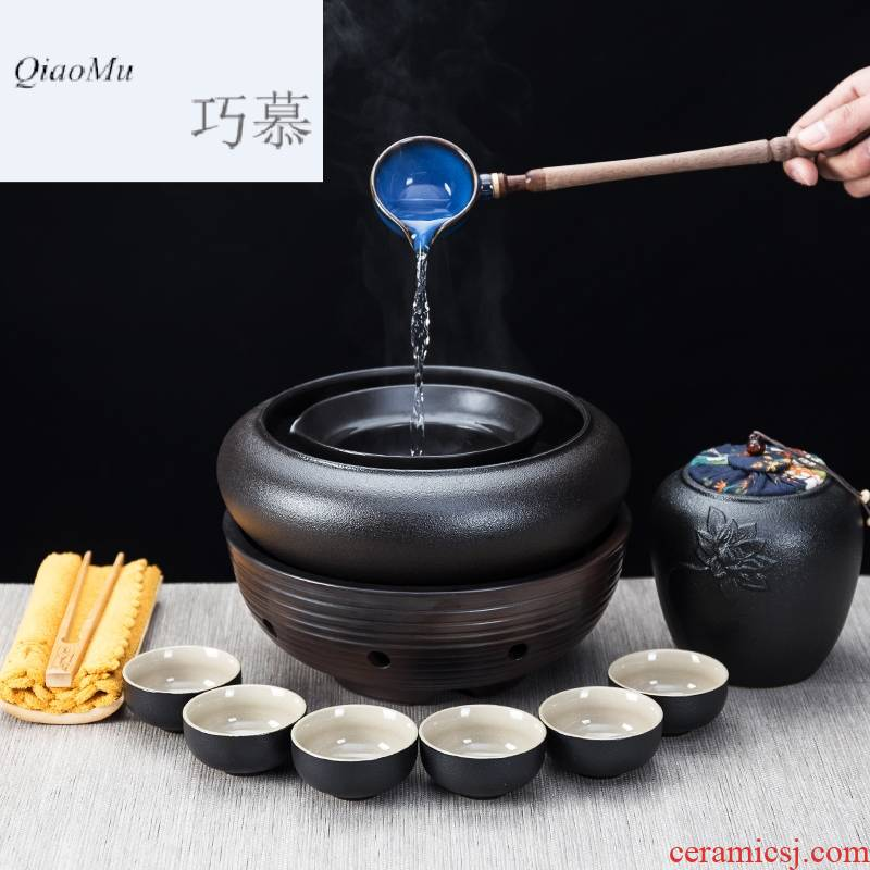 Qiao mu boiled tea ware ceramic boiling kettle black tea pu 'er tea stove home points to restore ancient ways the tea, the electric TaoLu suits for