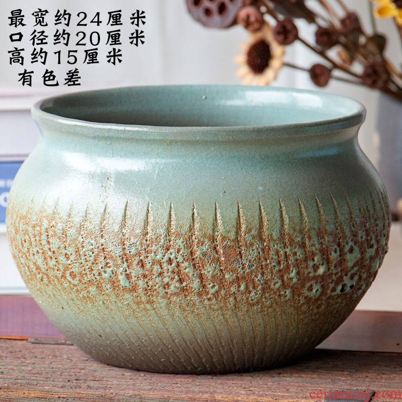 Extra large fleshy plant pot coarse pottery flowerpot is much meat on sale stout old running other platter ceramic platter