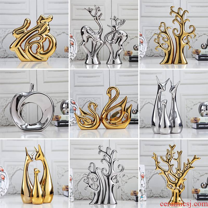 Modern European contracted fashion rich tree ceramic small place, a clearance sale, the sitting room TV ark, wine accessories