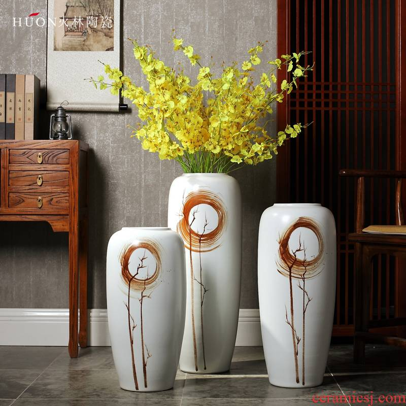 Ceramic vase vase planting bamboo I and contracted large office TV ark, new Chinese style porch dry flower arranging flowers