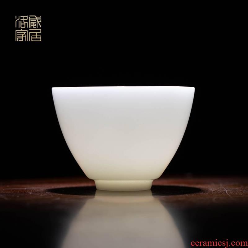 Ceramic cups, kung fu master sample tea cup cup single CPU jingdezhen manual small tea set high - grade white porcelain cup