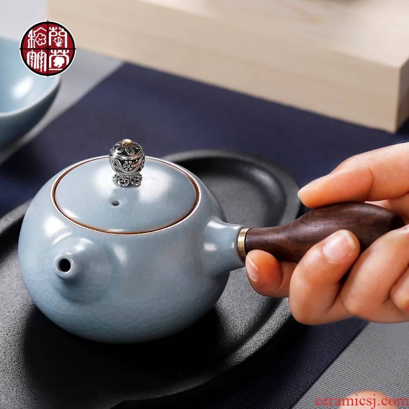 Manual cyan can open your up little teapot day piece can keep side ceramic household kung fu the pot of single pot teapot