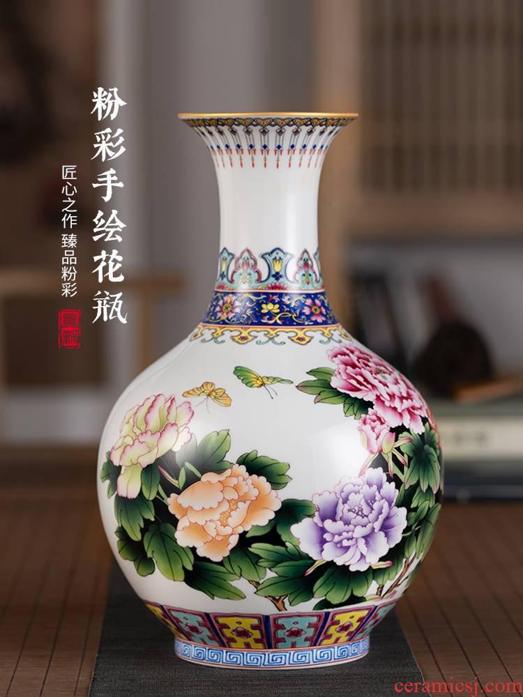 Jingdezhen ceramics, vases, flower arrangement sitting room of Chinese style of TV ark, furnishing articles study ancient frame decoration