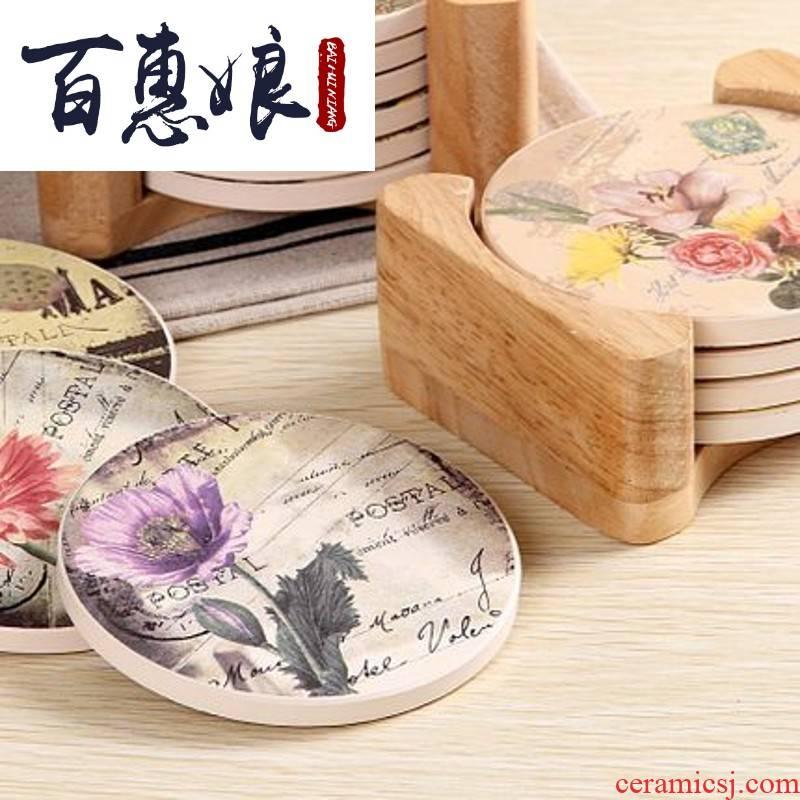 (niang table mat heat insulation cup mat ou eat mat mat western - style food prevent hot MATS creative ceramic slip