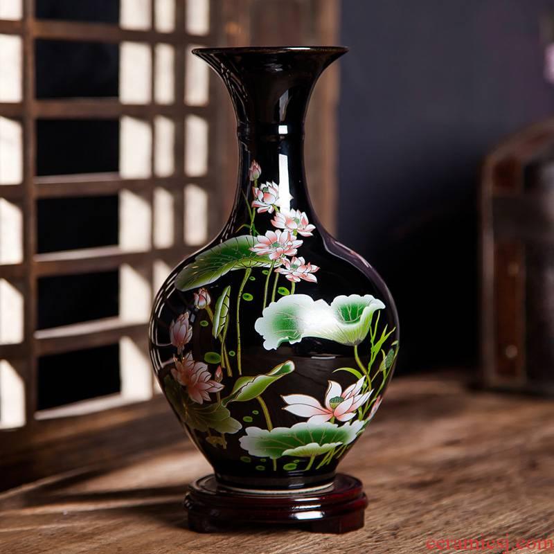 Jingdezhen ceramics vase furnishing articles sitting room of Chinese style household flower arrangement of TV ark, wine decoration decoration