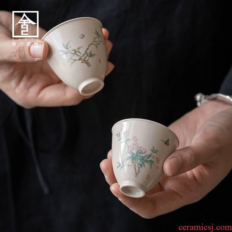 "The Self - ""appropriate content master cup of jingdezhen ceramic sample tea cup cup retro hand - made kung fu tea cup kunfu tea"