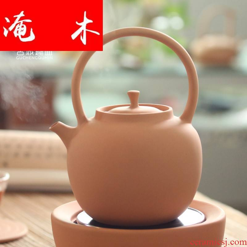 Flooded wood, red mud manual teapot girder chaozhou ceramic POTS TaoLu ceramic pot to boil tea machine coarse pottery large burn