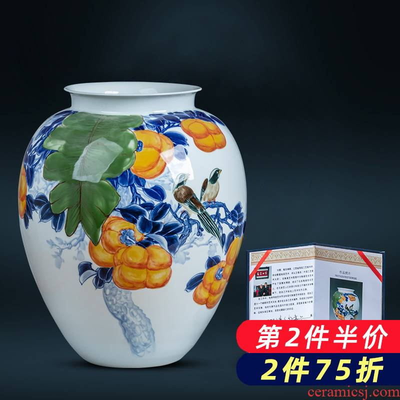 Jingdezhen ceramics hand - made gulp the best vase of new Chinese style home club sitting room adornment is placed
